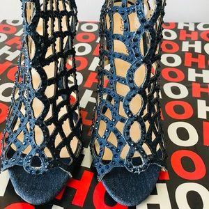 Zigisoho  women Duran pumps open toe stiletto heel